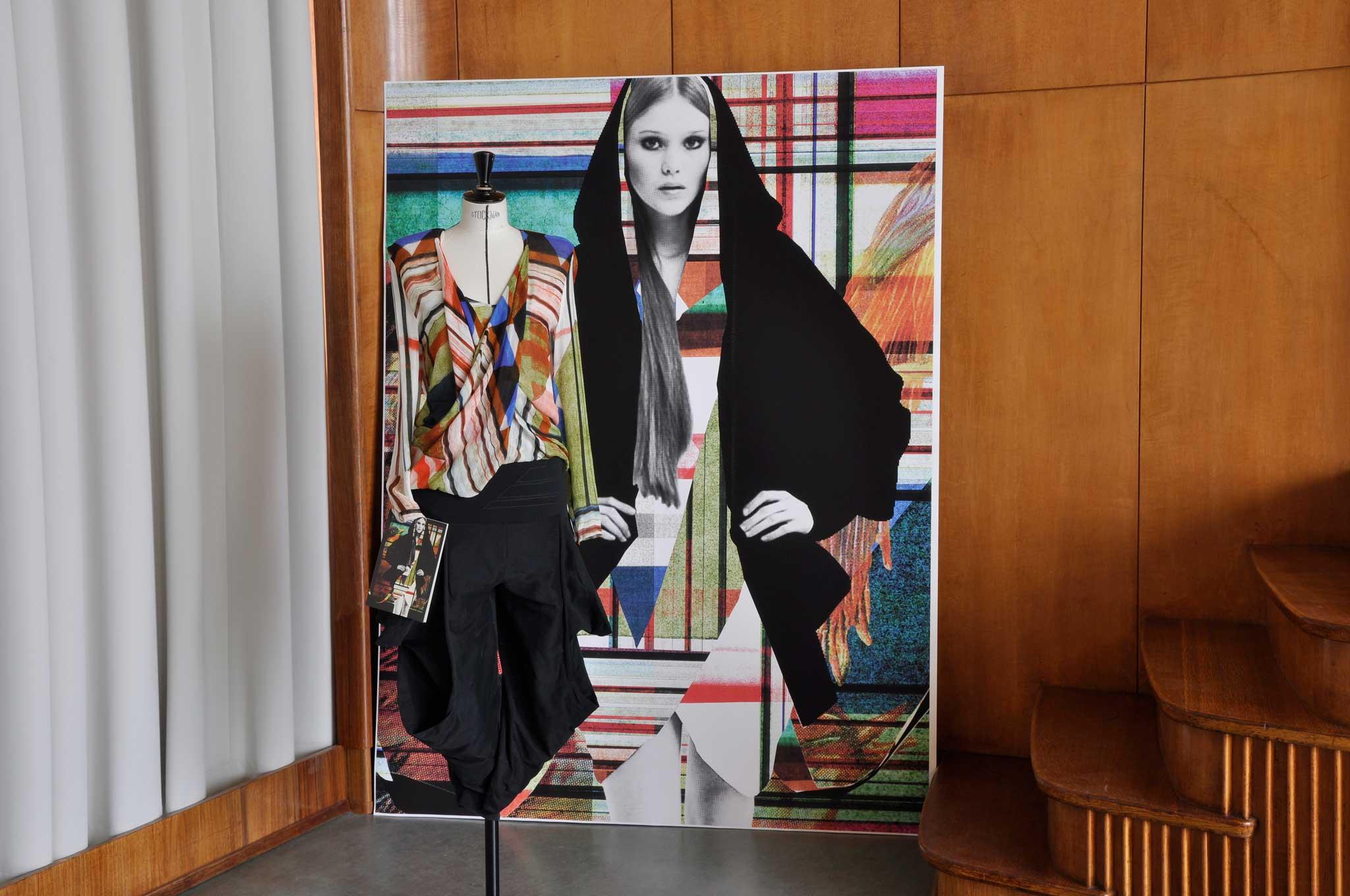 """Die Collage für die Kollektion AW 08/09 """"Vogelhochzeit"""" erschien als erste Limited Edition bei Lumas unter dem Titel """"Sommerpause""""."""