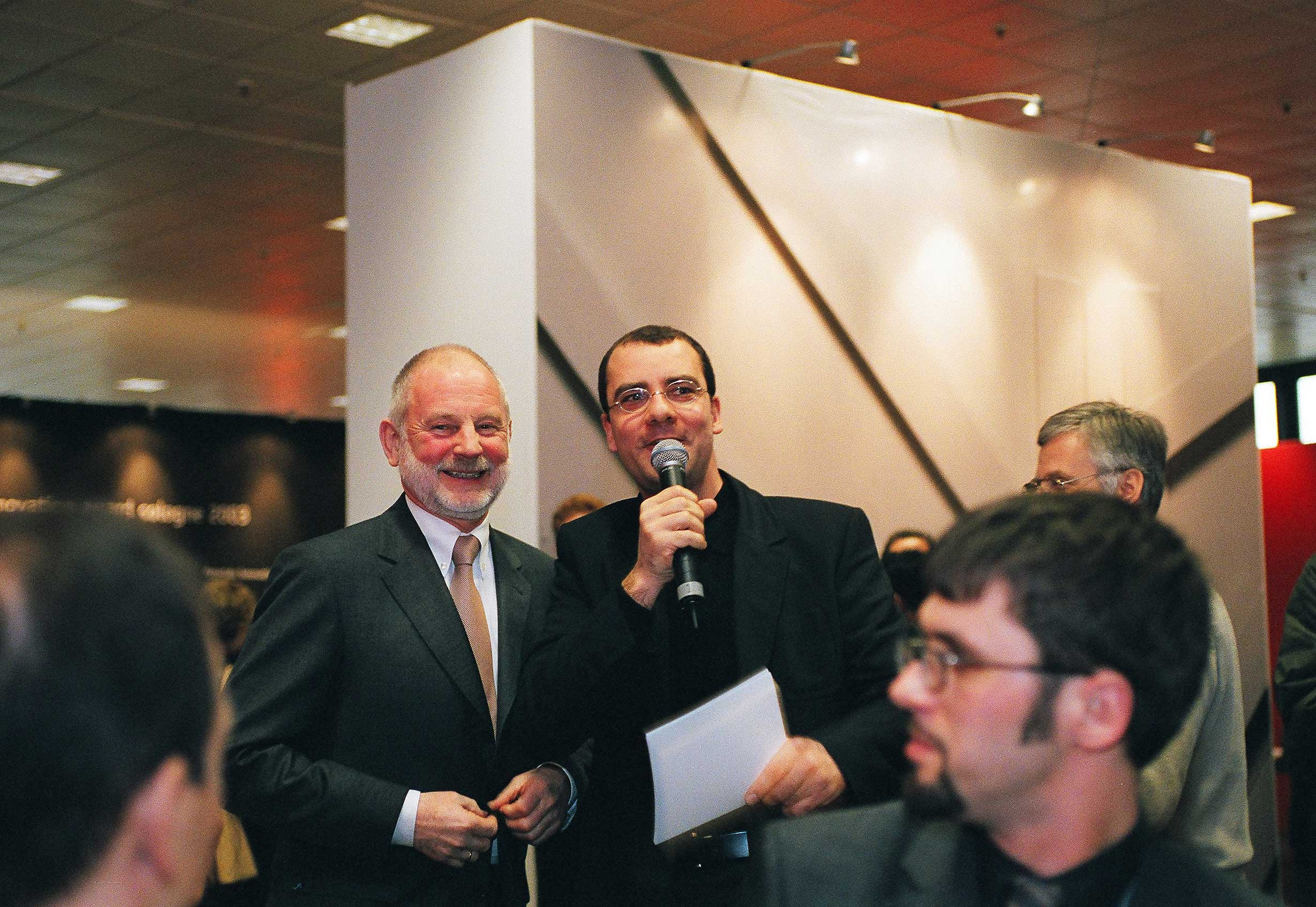 Helmut Lübke (Inhaber Interlübke und Präsident der Verbände der Deutschen Holz- und Möbelindustrie) im Gespräch mit Joachim Schirrmacher