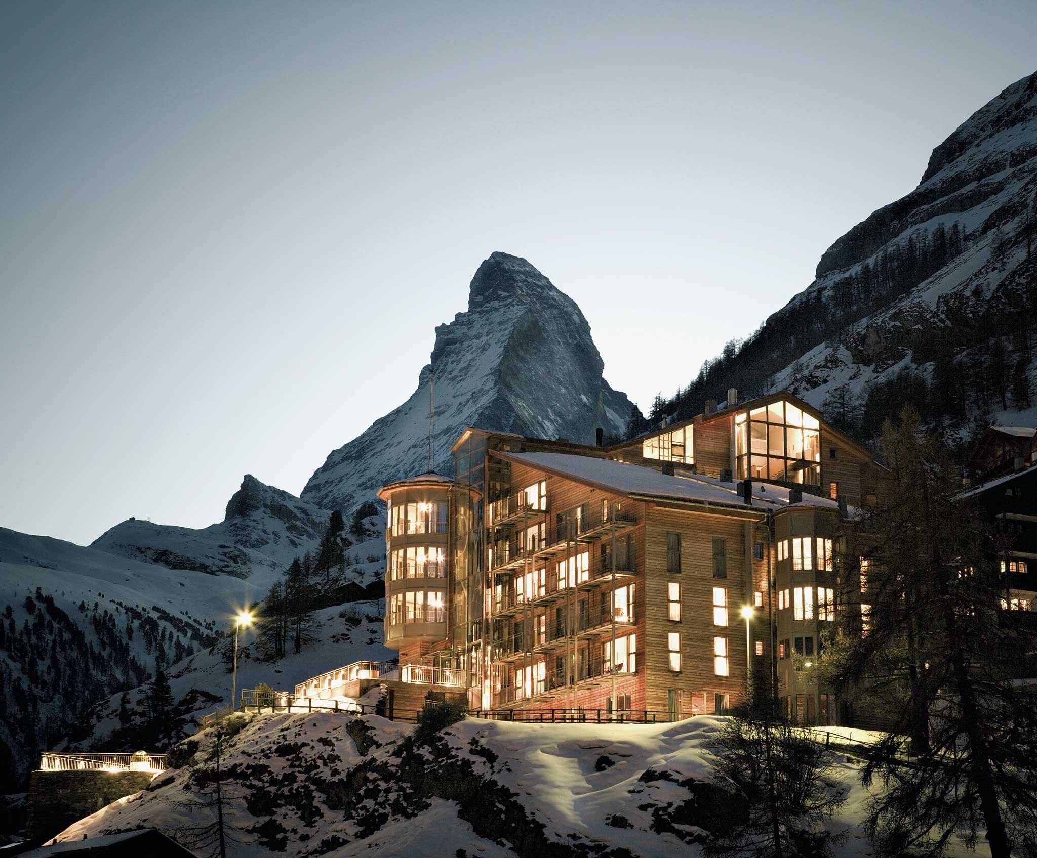 The Omnia bietet aus vielen Zimmer beste Sicht auf das Matterhorn.