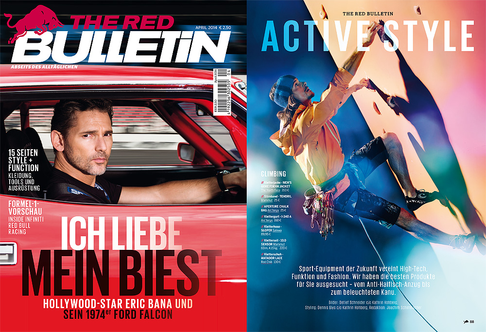 "Das erste Shooting ""Style + Function"" für The Red Bulletin."