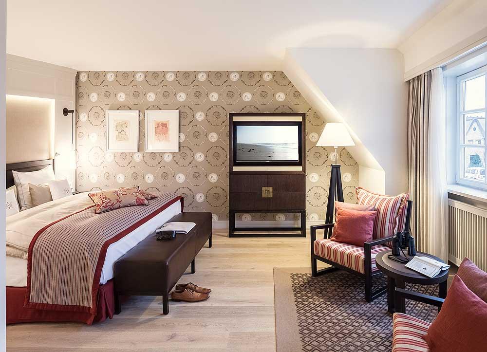 Die Zimmer sind wertig eingerichtet und mindestens 40 qm groß.