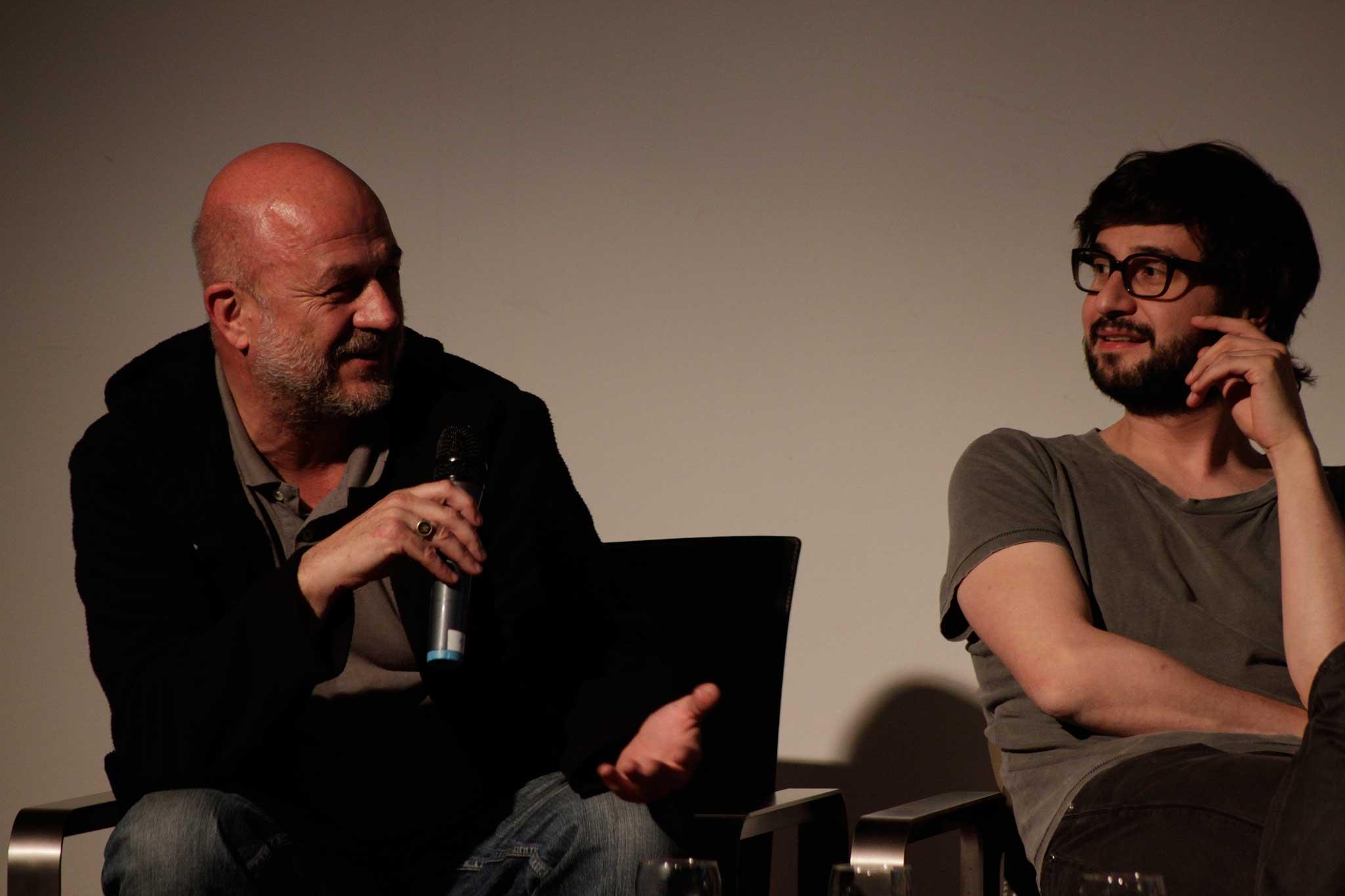 Lo Breier (links) bei dem Mario Lombardo (rechts) eins ein Praktikum machte.